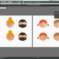 Skizze verschiedener Köpfe / Gesichter