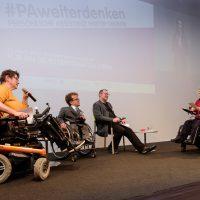 Vorstand: Roswitha Schachinger, Martin Bolkovac, Andreas Pöschek mit Martin Ladstätter im Gespräch