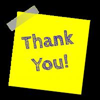Schriftzug: Thank You